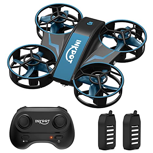 Mini Drone for Kids,INKPOT I06 RC Drone with 3 Level Mode for Beginners - Altitude Hold,Auto Rotating,3D Flip, Headless Mode,Indoor Quadcopter Gift Toys for Boys Girls