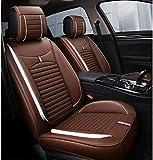 LIEBESSCHLOSS Asientos de Piel de la PU de Coches Covers Set Completo (5 plazas) Cojines Impermeables, Universal for Audi A3 / A4 / A5 / A6 / A8 / P3 / P5 / RS4 (Color : Brown)