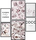 Papierschmiede® Mood-Poster Set Coco Flowers | Bilder als
