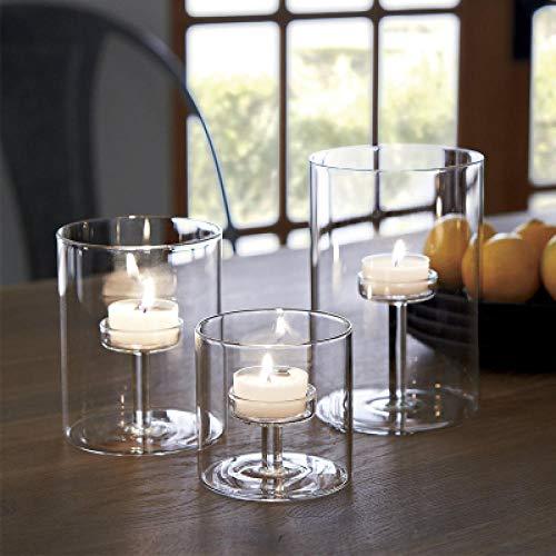 Home Wang Faroles para Velas Candelabro de Vidrio Moderno Copa a Juego Candelabros de Cristal Candelabros para la Cena de Boda Decoración del hogar-Set