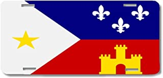 BrownInnovativeMedia Acadian Cajun Louisiana World Flag Metal License Plate Car Tag Cover