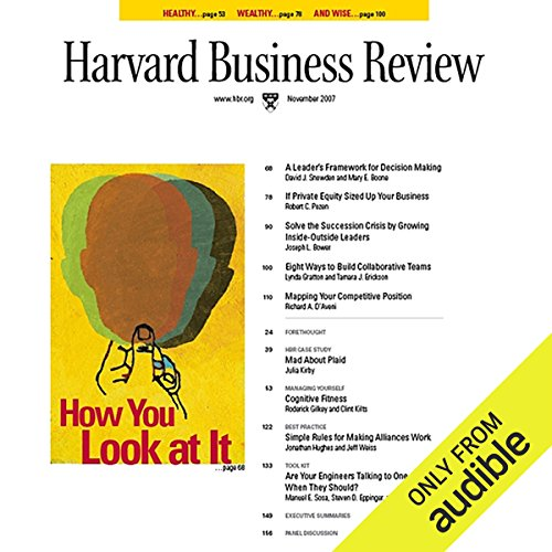 Harvard Business Review, November 2007 audiobook cover art