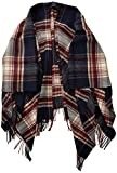 Marc O'Polo Damen 908814893013 Cape, wool, yarn dye, check, fringe, Mehrfarbig (Combo G98), One Size...