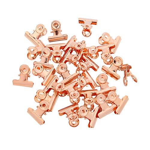 Opopark 30 Piezas Clips de Metal Clip de Acero Inoxidable,Clips de Bulldog Clip de Papel para Colgar Imágenes, Bolsas de Comida, Oficina y Hogar