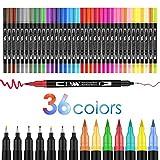 36 colores doble Rotuladores Punta Pincel,juego de rotuladores de acuarela para adultos y niños,...