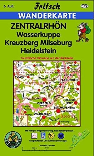 Zentralrhön: Wasserkuppe, Kreuzberg, Milseburg, Heidelstein (Fritsch Wanderkarten 1:35000)