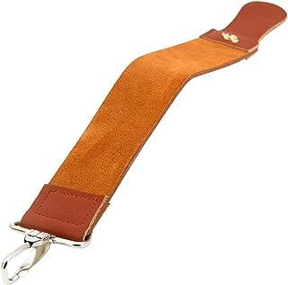 KALAIXING - Correa para afilador de maquinilla de Afeitar Cinturón de Piel auténtica con Pulido de Afilado para Navaja Recta de Afeitar