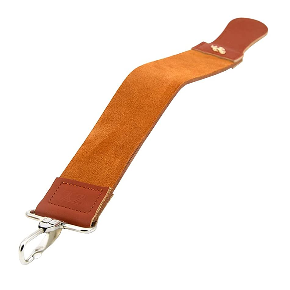 KaLaiXing Straight Razor Sharpener Strap Belt. Genuine Leather Strop Belt with Sharpening Polishing Compound for Knife Straight Razor by-TD01