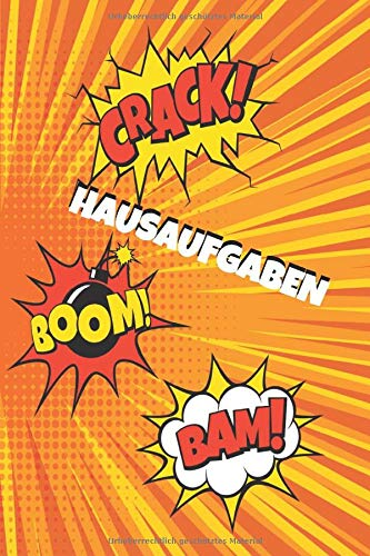 Hausaufgaben: Hausaufgabenheft Mit Platz Für Aufgaben, Stundenplan, Notizen Und Schulnoten Schülerplaner Comic Cover