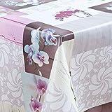 laro Wachstuch-Tischdecke Abwaschbar Garten-Tischdecke Wachstischdecke PVC Plastik-Tischdecken Eckig Meterware Wasserabweisend Abwischbar GAC, Größe:80x80 cm, Muster:Orchidee - 2