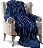Utopia Bedding Fleece Blanket Throw Size Navy 300GSM Luxury Bed Blanket Fuzzy Soft Blanket Microfiber