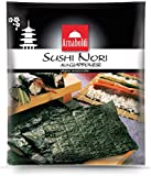 Arnaboldi Alga Nori per Sushi Giapponese, 16 Fogli di Alghe Nori Essiccate [2 Confezioni d...
