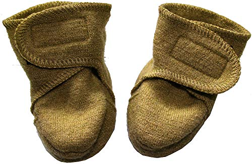 Disana - Botas para andar (100% lana merino virgen), color Dorado, talla 01 (4-8 Mon.)