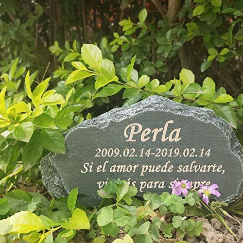 FANN 8.5 (L) x 2.5 (W) x 4.5 (H) Pulgadas Piedra Conmemorativa Personalizada para Mascotas, Marcador de Tumba de Perro Personalizado, lápidas de Gato, Adorno para Exteriores y jardín