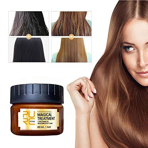Magical Hair Treatment Mask 5 Seconds Repairs Damage Hair Nutrition Hair Root Restore Soft Smooth Hair Tonic Keratin Hair & Scalp Treatment Hair Care 60ml