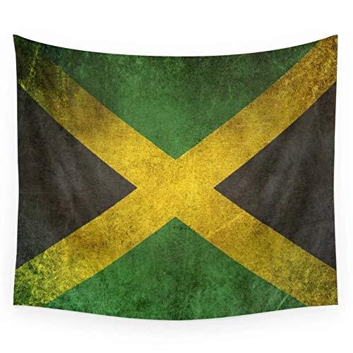 N/A Tapisserie im Freien Picknickmatte Wanddekoration Alte & abverwendete notleidende Vintage Flagge von Jamaika Wandteppich Wandbehang Wandteppiche werfen Handtuch Blatt Tischdecke Home Decor