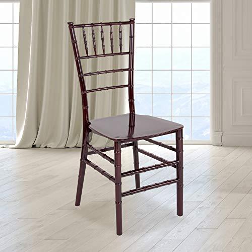 Flash Furniture HERCULES Series Mahogany Resin Stacking Chiavari Chair