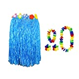 Wholesale Solutions A Costume Travestimento Gonna Hula Hawaiana per adulti - blu