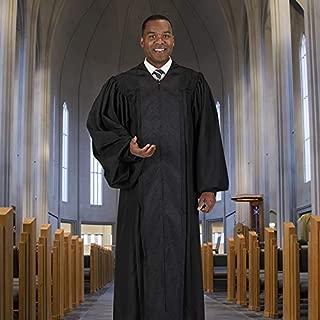US Gifts Black Jacquard Trim Pulpit Robe