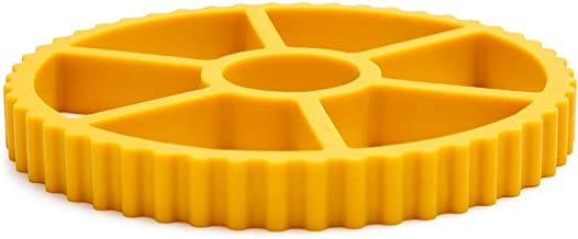 Rotelle Large Trivet For Hot Dishes - Heat Resistant Silicone Trivet, Table and Countertop Heat Protector In Fun Pasta Shape, Yellow