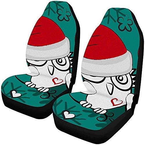Drew Tours Eule in Einer roten Mütze Owlet Santa mit Herz Schneeflocke Autositzbezug...