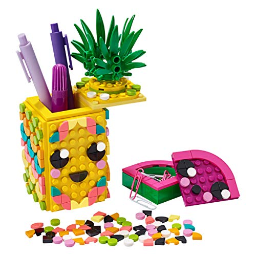 LEGO-41906-DOTS-Pineapple-Pencil-Holder-DIY-Desk-Accessories-Decorations-Set-Art-and-Craft-for-Kids