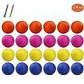 KOFULL Practice Golf Balls, Golf Foam Sponge Soft Elastic Practice Indoor &Outdoor Ball -24/ Pack (Yellow+Orange)