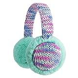 Flammi Kids Knit Earmuffs Winter Outdoor Furry Ear Warmers for Boys Girls (Aqua Green)