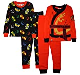 LEGO SGI Apparel Boys Ninjago 4-Pc Pajama, 2 Sets Sleeve (4, Red/Black)