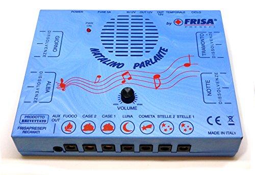 FRISA NATALINO PARLANTE LED con Kit Completo di LUCI E Accessori - Unica centralina per presepio Che...