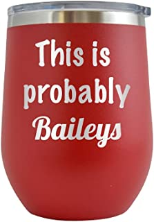 engraved baileys glass