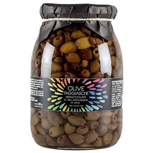 Taggiasca Oliven Cuvea ohne Stein aus Ligurien mit extra natives olivenöl, 900g