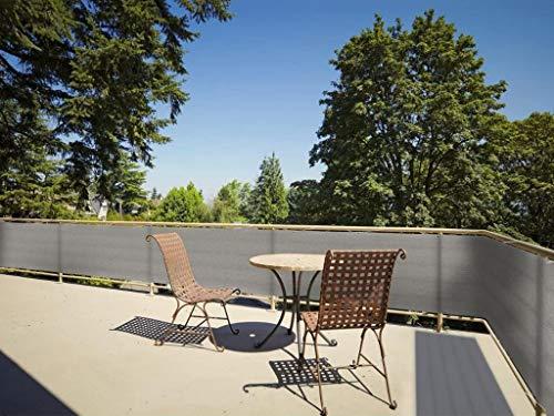 LIUNA Pantalla De Privacidad para Balcones Protección De Privacidad, Toldos Laterales para Terraza, HDPE, Gris(Size:1.1x4m)