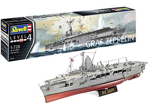 Revell-German Aircraft Carrier GRAF ZEP, Escala 1:720 Kit de Modelos de plástico, Multicolor, 1/720 05164 5164