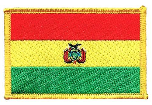 Flaggen Aufnäher Bolivien Fahne Patch + gratis Aufkleber, Flaggenfritze®