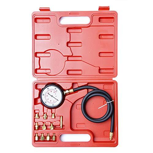 CarBole Öldruckmesser Öldrucktester Öldruckprüfer Öl-Messgerät Prüfgerät Set für Auto LKW 0-35 bar