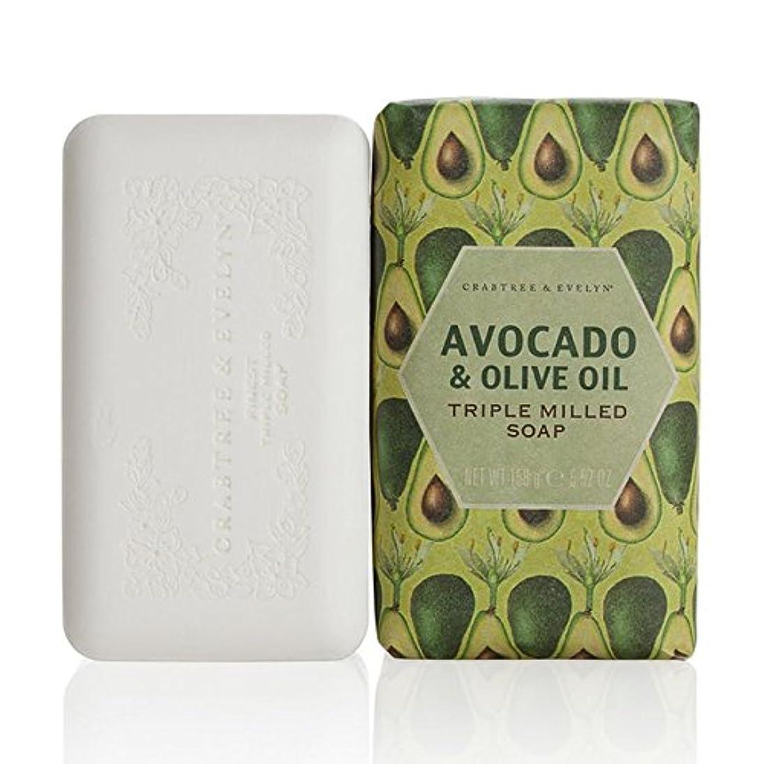エイズ上昇脅かすクラブツリー&イヴリンアボカド&オリーブオイル粉砕された石鹸158グラム x2 - Crabtree & Evelyn Avocado & Olive Oil Milled Soap 158g (Pack of 2) [並行輸入品]