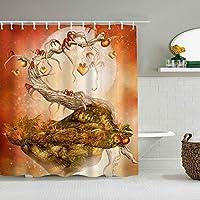 シャワーカーテンサンセットビーチ防水バスカーテンフック含まれるdBathroom装飾的なアイデアポリエステル生地アクセサリー