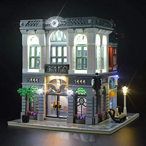 HLEZ Conjunto de Luces Lluminación para Banco de Ladrillos Experto Modelo de Bloques de Construcción, USB Juego de Luces Compatible con Lego 10251 (Modelo Lego no Incluido)