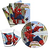 Procos 10108558B - Kinderpartyset - último hombre araña - guerreros web, tamaño S, 37 pieza
