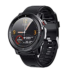【Large battery & IP68 Waterproof & Fitness Tracker & LED torchlight】370mAh large capacity battery, fully charged in 160 minutes, up to 10 days standby time under daily use. The product supports waterproof with IP68 level, it is available to wear it w...