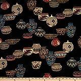 Telio 0674063 Kimono Pique Stretch Knit Rafia Basket Print