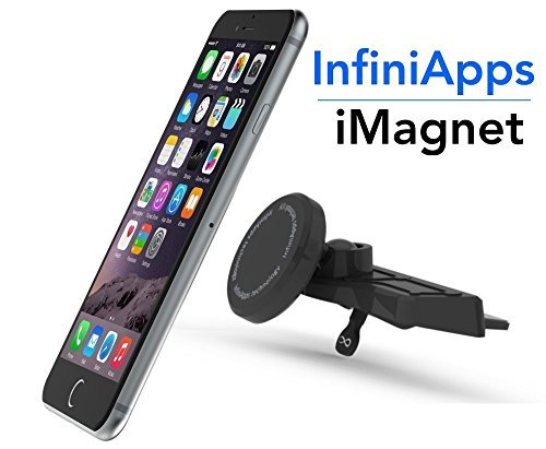 [Maker of iMagnet] Car Mount, Magnetic Mount-InfiniApps The Original Patented Slyde CD Slot Mount, Car Phone Mount for Smartphones iPhone X 8 7 Plus 6S 6 5s 5, Galaxy S8 S7 S6, Note 8 5 Mini Tablets