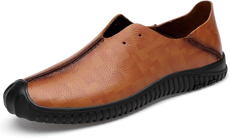 Hilotu Mans Mode Driver Loafers Simple Simple Simple Flexible and ljus Boat Mocasins (Hollow valfri) (Färg  röddish bspringaaa, Storlek  6.5 M US)  bästa kvalitet bästa pris