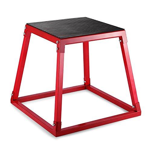 Tecmaqui Cajón de Salto para Fitness 12''/18''/24'' Caja Pliométrica para Entrenamiento de Salto Plyo Box Banco de Salto para Crossfit (18''/45.7cm)