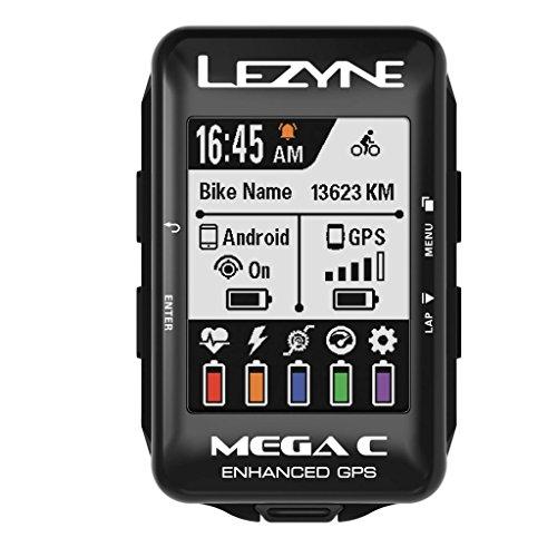 LEZYNE Mega C Bicicleta Negro rastreador GPS - Rastreadores GPS (5,59 cm (2.2'), 33,8 x 45,1 mm, 240 x 320 Pixeles, 33,3 día(s), Recargable, 32 h)