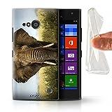 Hülle Für Nokia Lumia 730 Wilde Tiere Elefant Design