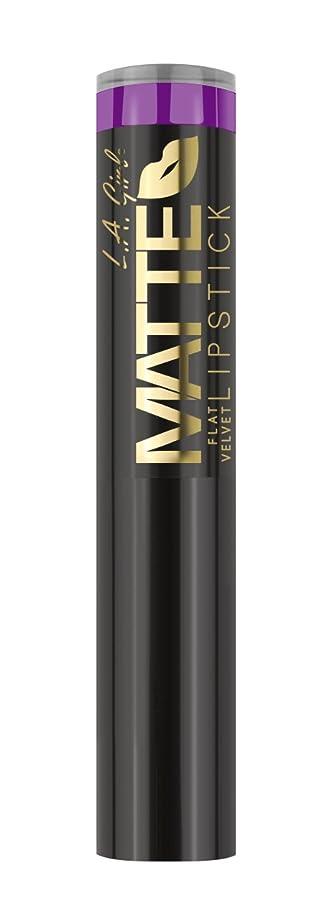 ペデスタル農村気候の山L.A. GIRL Matte Flat Velvet Lipstick - Love Triangle (並行輸入品)