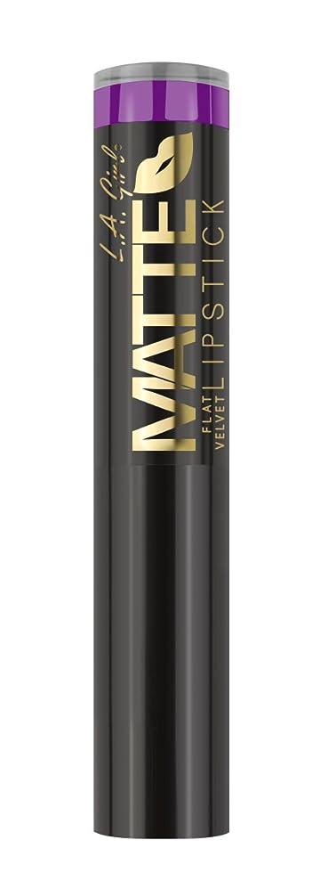 キャンプ郊外苦情文句L.A. GIRL Matte Flat Velvet Lipstick - Love Triangle (並行輸入品)