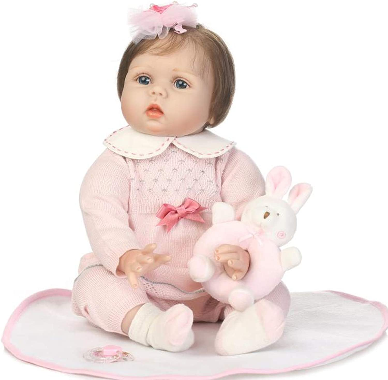 ZIYIUI 22  Reborn Baby Dolls Soft Silicone Vinyl Lifelike Baby Doll Boy and Girl Toys Reborn Dolls Free Magnet Pacifier Best Gift for Xmas